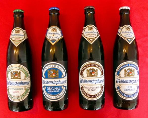 Biersorten der Brauerei Weihenstephan