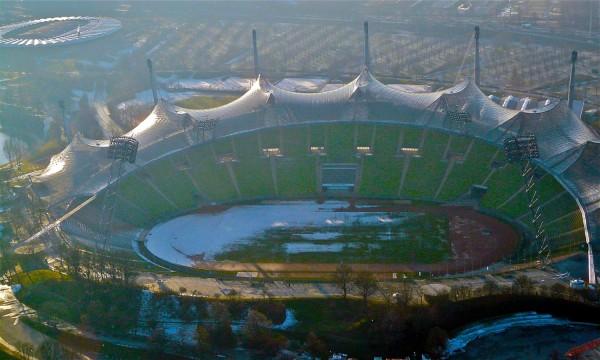 Blick ins Münchner Olympiastadion