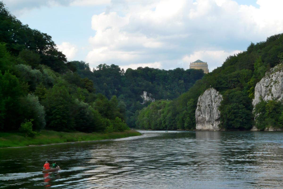 Donaudurchbruch und Kloster Weltenburg