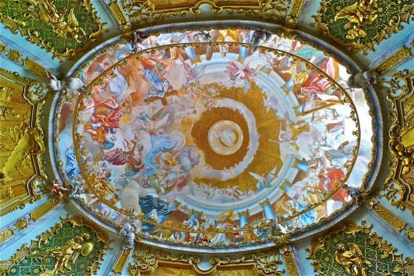 Deckenfresko der Klosterkirche Weltenburg