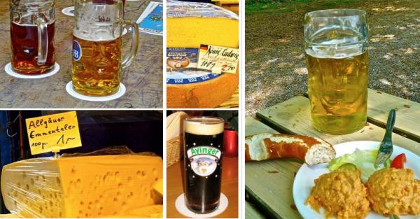 Bier und Käse kombiniert