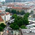 Blick auf den Viktualienmarkt in München